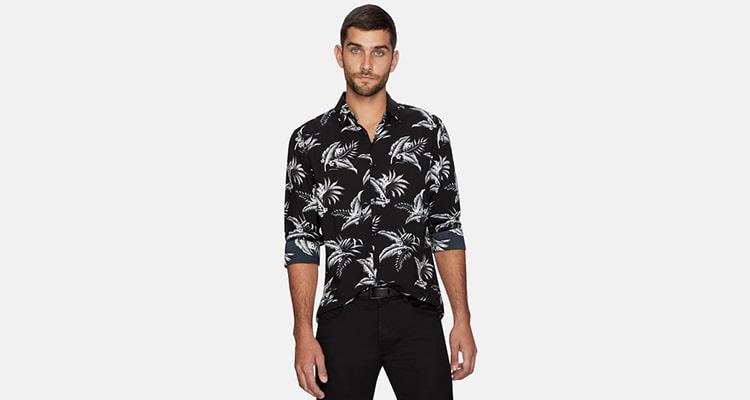 Black Teremy Tropical Shirt