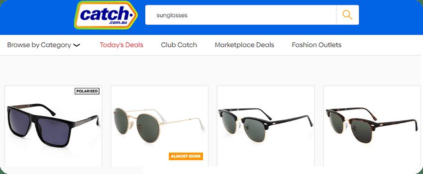 catch sunglasses
