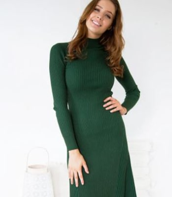 charlie knit dress green