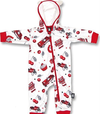 cherry garage hooded romper