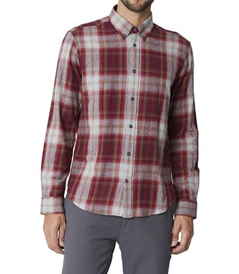 buffalo check shirt chestnut