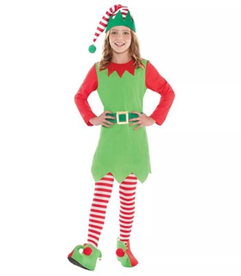 Merry Elf Childs Costume