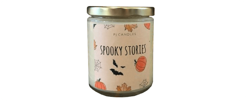 spooky stories candle